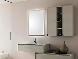 mobile bagno laccato grigio