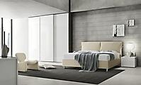 armadio a scorrevole bianco letto imbottito
