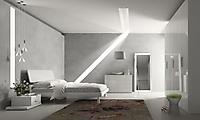 camera bianco lucido