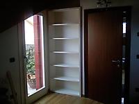 libreria a muro laccata