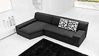divano moderno con penisola