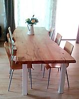 tavolo corteccia gambe metallo