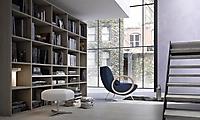 libreria rovere grigio