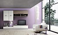 mobile porta tv bianco e rovere grigio
