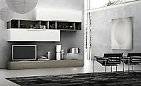 mobile soggiorno rovere grigio e bianco