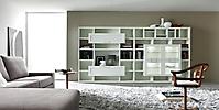 soggiorno bianco anta a telaio