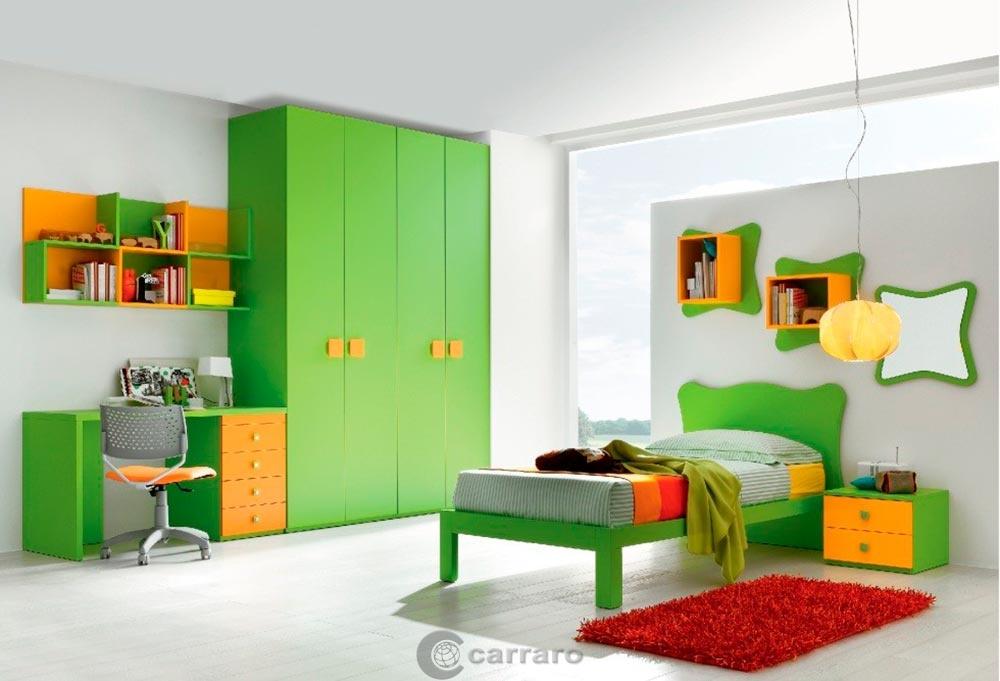 Prodotti Categoria Camerette Immagine Cameretta Verde Arancio