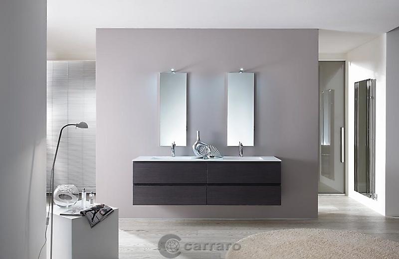 Prodotti categoria arredo bagno immagine bagno con due lavabi sospeso arredamenti carraro - Bagno con due lavabi ...