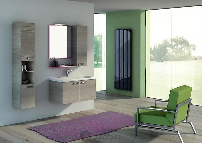 Prodotti categoria arredo bagno immagine bagno pino chiaro sospeso arredamenti carraro for Arredamenti bagno ikea