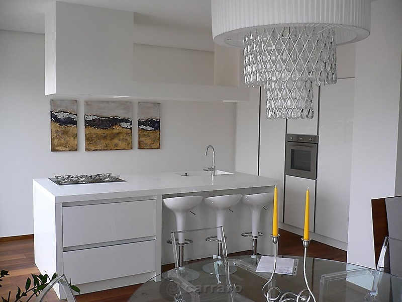 Prodotti categoria cucine moderne immagine cucina - Cucina bianca e legno naturale ...