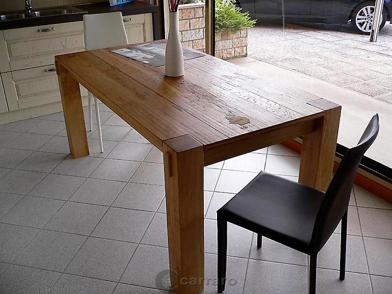 Prodotti categoria tavoli immagine tavolo rovere - Tavolo in rovere naturale ...